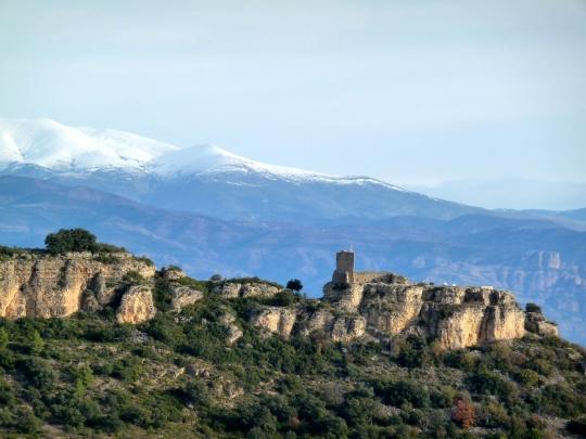 Panoràmica Castell Guàrdia, Castell de Mur