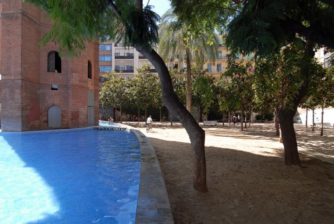 Jardines de la torre de les aig es barcelona film commission - Jardines de barcelona ...