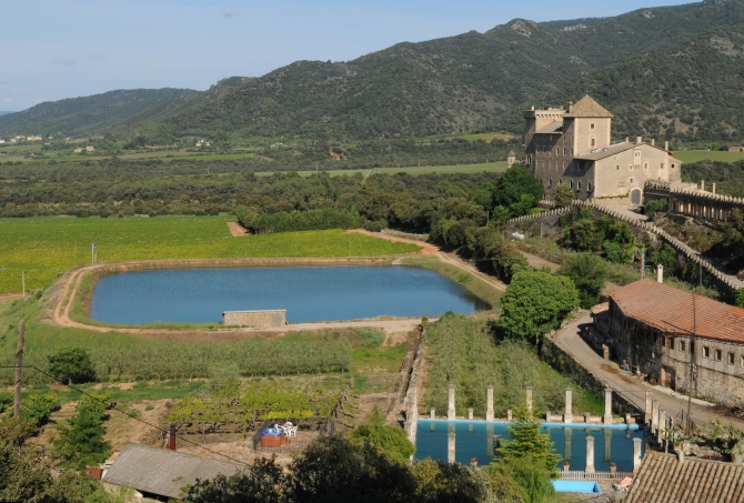 Castell Riudabella Piscina i bassa