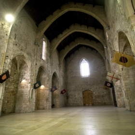 Interior Església de Sant Francesc de Montblanc
