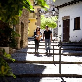 Bajada Cervantes Poble Espanyol Foto: Guillem Sartorio