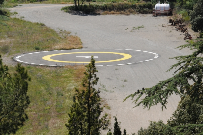 Castell Riudabella Heliport