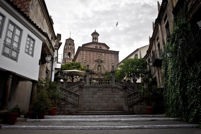 Gradas de Santiago Poble Espanyol Foto: Guillem Sartorio